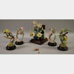 Five Royal Worcester Dorothy Doughty Porcelain Figural Bird Groups