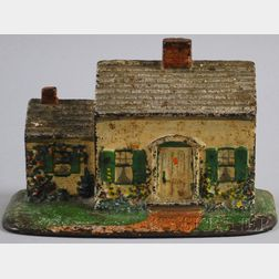 Painted Cast Iron Cape Cod House Doorstop