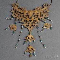 Gilt Copper Necklace