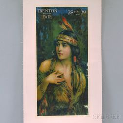 U.S. 1916 Trenton Inter-State Fair U-Kno-Us   Lithograph Poster
