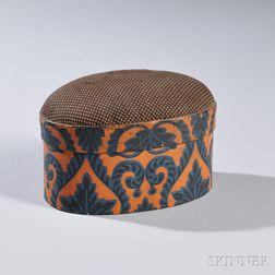 Oval Pincushion-top Wallpaper Box