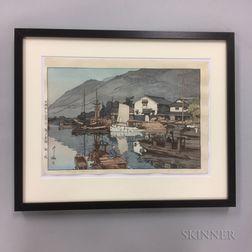 Hiroshi Yoshida (1876-1950), Harbour of Tomonoura