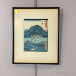 Hiroshige II (1826-1869) Woodblock Print