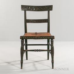 Green-painted and Carved Classical Side Chair