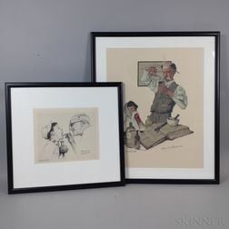 Norman Rockwell (American, 1894-1978)      Two Artist-proof Prints Featuring Doctors: Expect the Unexpected