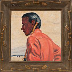 Ernest Martin Hennings (American, 1886-1956)      Taos Profile   (Study of Frank Samora)