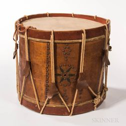 Civil War-era Rope Tension Militia Drum
