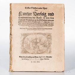 Verken, Johann (fl. circa 1613) Eylffter Schiffart ander Theil, oder Kurtzer Verfolg und Continuirung der Reyse, so van den Hol- und Se