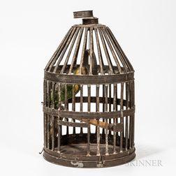 Large Tin Birdcage