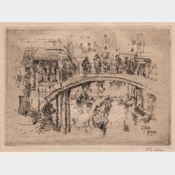 John Marin (American, 1870-1953)      Bridge, Venice