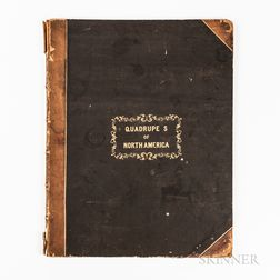 Twenty-six Lithographic Plates from John James Audubon (1785-1851) and John Bachman (1790-1874) The Viviparous Quadrupeds of North Amer