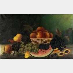 American School, 19th Century  Still Life with Fruit.