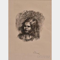 Pierre-Auguste Renoir (French, 1841-1919)      Claude Renoir tournè à gauche