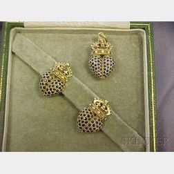 18kt Gold, Sapphire, and Diamond Heart Suite, Barry Kieselstein-Cord