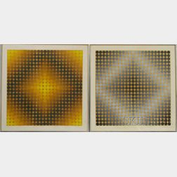 Victor Vasarely (French/Hungarian, 1906-1997)      Two Op-Art Works: Diac
