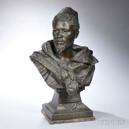 After Gaston Veuvenot Leroux (French, 1854-1942)       Bronzed Bust of Othello