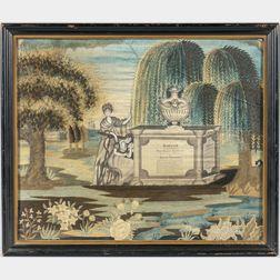 Needlework Memorial Picture
