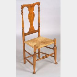 Queen Anne Maple Yoke-back Turned Side Chair