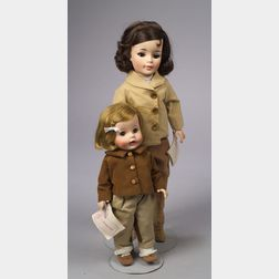 Madame Alexander Jacqueline and Caroline Kennedy Dolls