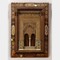 Hispano-Moresque Plaster and Inlay Wall Plaque