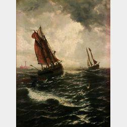 Thomas Rose Miles (British, fl. 1869-1906)    Sailing of the Herring-Fleet