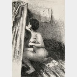Raphael Soyer (American, 1899-1987)      In the Studio