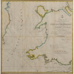 St. George's Channel, Coast of Wales. Lewis and William Morris (fl. circa 1750-1800)   Chart of St. George's Channel &c.