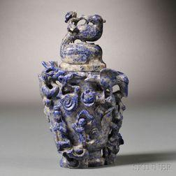 Lapis Lazuli Covered Vase