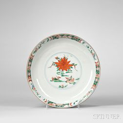 Wucai Batavia Brown-glazed Dish