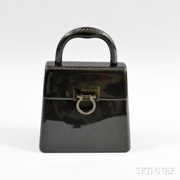 Salvatore Ferragamo Black Hardcase Bag