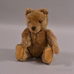 Tan Articulated Mohair Teddy Bear