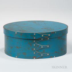 "Oval Blue-painted Steel ""Shaker"" Box"