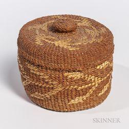Northwest Coast Cedar Bark Basket