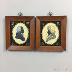 Pair of Framed Silhouettes of George and Martha Washington