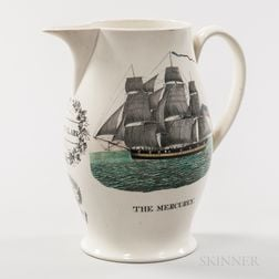 Liverpool Transfer-decorated Creamware Jug