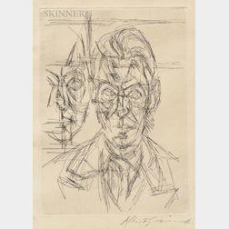 Alberto Giacometti (Swiss, 1901-1966)      Frontispiece to Dans la chaleur vacante