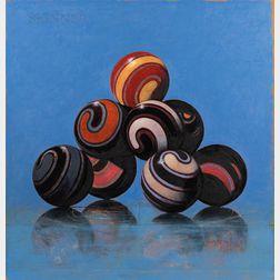 John Gibson (American, b. 1958)      Blue Pile 2