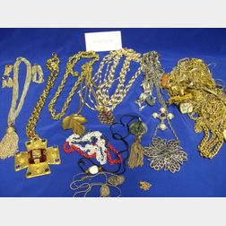 Lot of Goldtone and Silvertone Chains and Necklaces