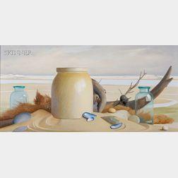 Robert Douglas Hunter (American, b. 1928)      Beach Still Life