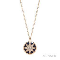 "18kt Gold, Enamel, and Diamond ""Venezia Stella"" Pendant Necklace, Paloma Picasso for Tiffany & Co."