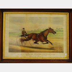 Currier & Ives, publishers (American, 1857-1907)      The King of the Turf ST. JULIEN, Driven by Orrin A. Hickok.