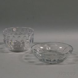 Kosta Boda and Baccarat Clear Cut Crystal Bowls