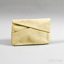 Salvatore Ferragamo Tan Leather Clutch