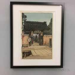 Hiroshi Yoshida (1876-1950), A Little Temple Gate