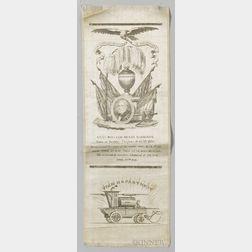 William Henry Harrison Silk Mourning Ribbon