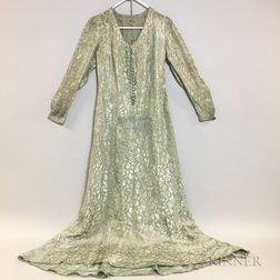Lame Silk and Metal-thread Gown