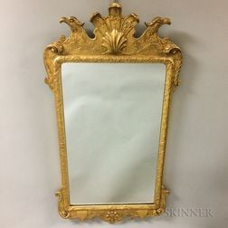 Williamsburg Restoration Chippendale-style Molded and Gilt Composition Looking Glass