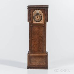 """Lithographed Tall Clock Form Tin """"Victory Gums and Lozenges"""" Box"""