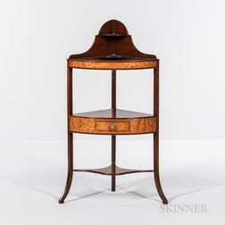 Federal Mahogany Inlaid Corner Washstand