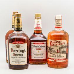 Mixed Bourbon, 2 1/2 gallon bottles 2 1.75 liter bottles